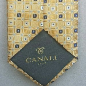 Canali yellow tie Italy